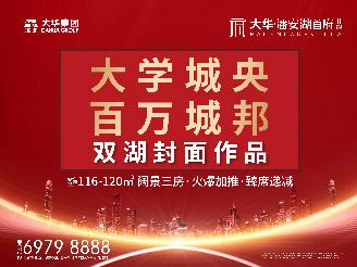 大华潘安湖首府|大学城央 百万城邦 双湖封面作品